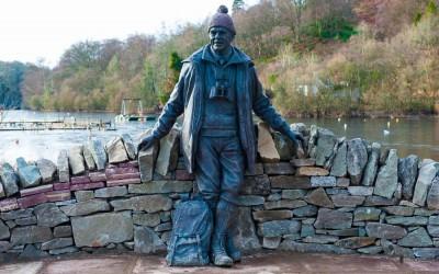 Tom Weir Statue at Balmaha, Loch Lomond