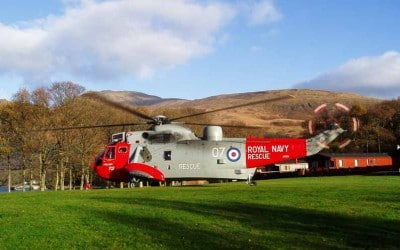 Sea King helicopters Scotland farewell flight