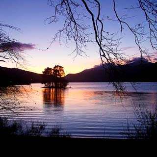 Sunset over Loch